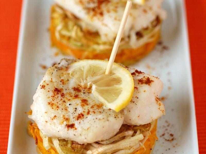 Filets de poisson au four aux petits légumes  Recette de