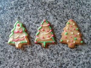 Petits sablés de Noël décorés