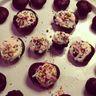 Cupcakes chocolat, glaçage chantilly