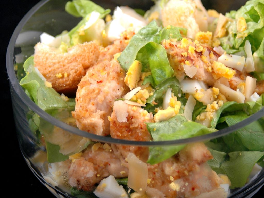Salade Cesar Au Poulet Light Recette De Salade Cesar Au Poulet Light Marmiton