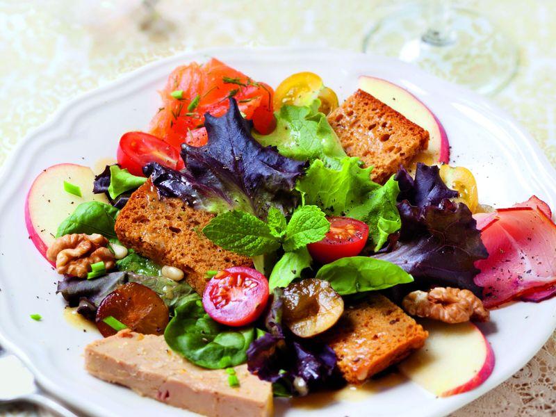 Menu De Noel Facile Et Rapide Marmiton.Salade De Noel Recette De Salade De Noel Marmiton