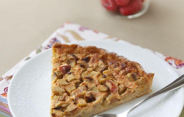 Tarte à la rhubarbe facile et rapide : Recette de Tarte à ...