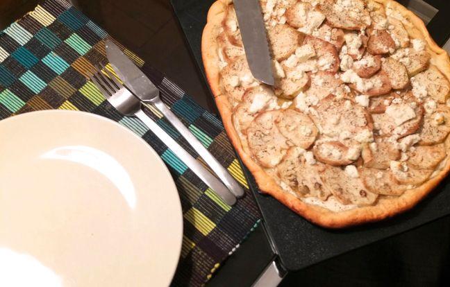 Pizza végétarienne blanche : Recette de Pizza végétarienne ...