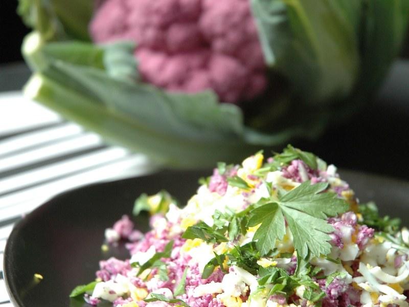 Chou Fleur Rape Aux Herbes Et Oeufs Mimosa Recette De Chou Fleur
