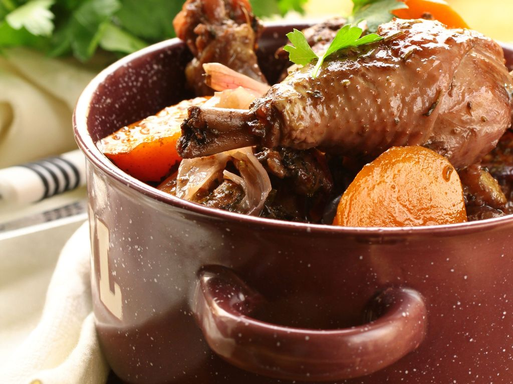 O que comer na França - Coq au vin