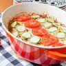 Tomates et courgettes en gratin