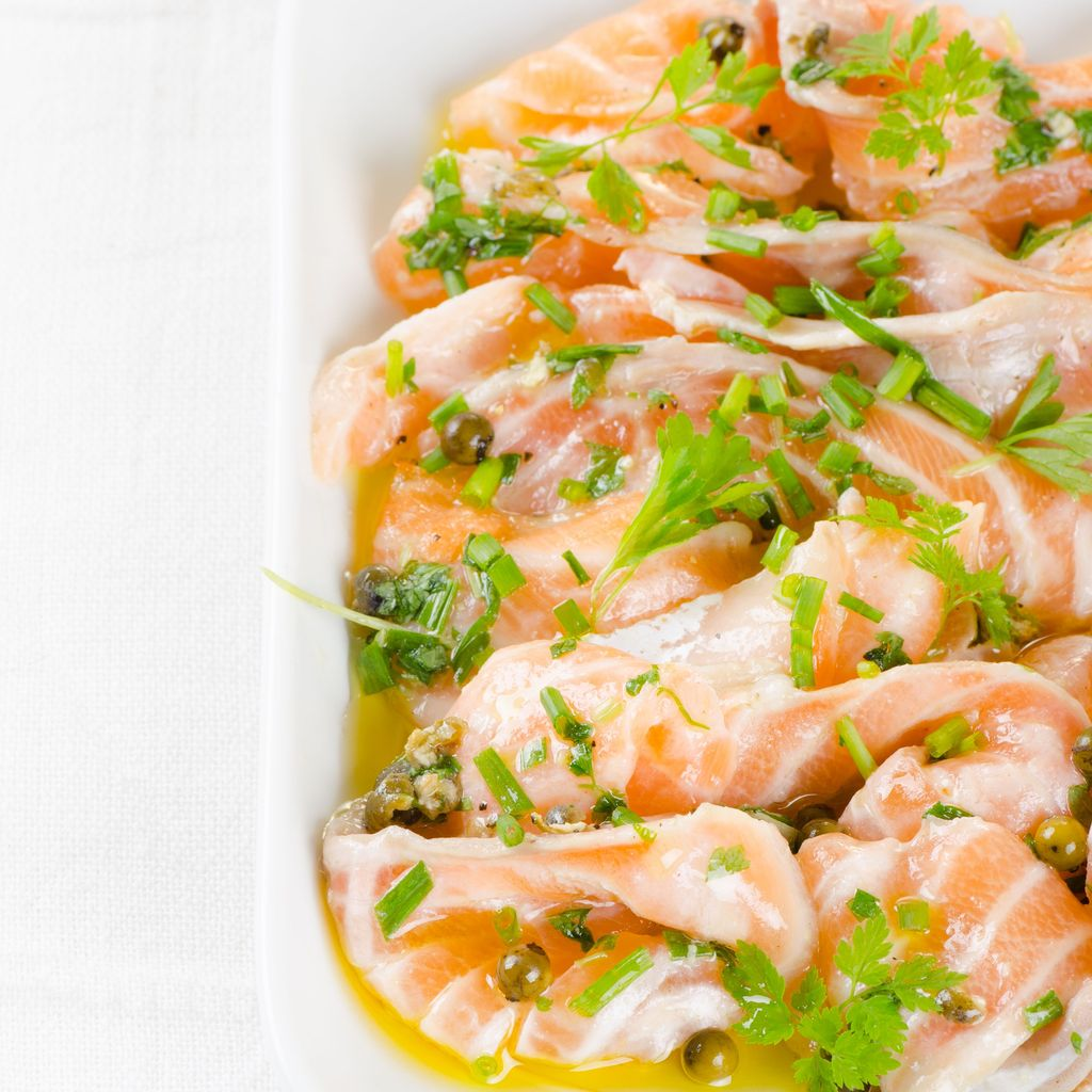 Marinade de saumon cru aux vinaigres  recette de Marinade de ...