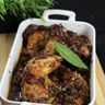 Cuisses de poulet aux raisins secs et miel