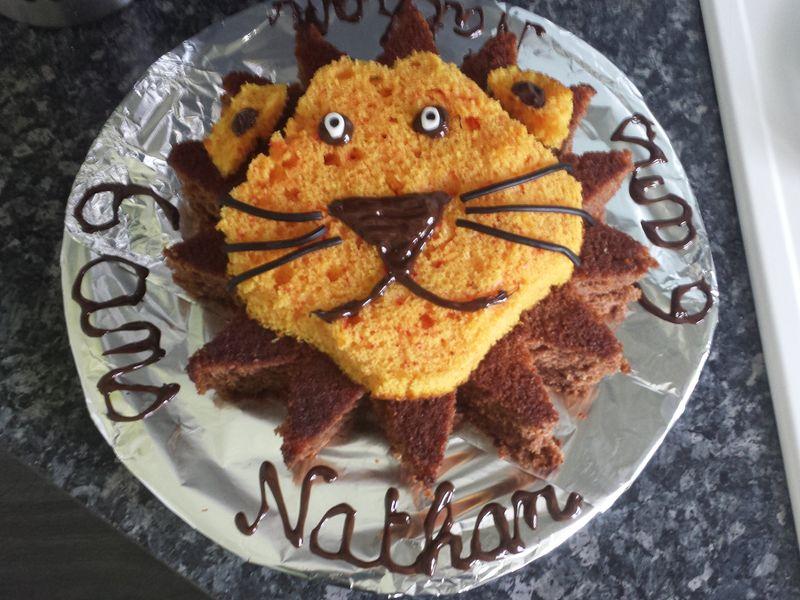Gâteau d\u0027anniversaire Lion  Recette de Gâteau d