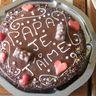 Gâteau chocolat fraise pour la fête des pères