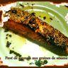 saumon au miel et sésame