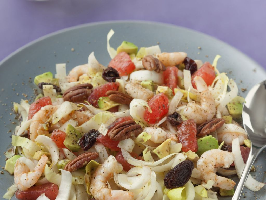 salade d 39 endives pamplemousse et crevettes recette de. Black Bedroom Furniture Sets. Home Design Ideas