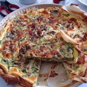 Tarte courgette et roquefort (végétarien)  Recette de Tarte courgette et  roquefort (végétarien) , Marmiton
