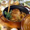 Rôti de porc moutardé en cocotte
