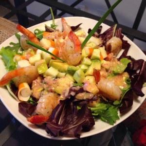 Salade Exotique Aux Crevettes Recette De Salade Exotique Aux
