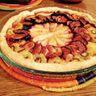 Tarte fine aux poires, figues et kiwis