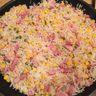 Riz grillé aux lardons et maïs