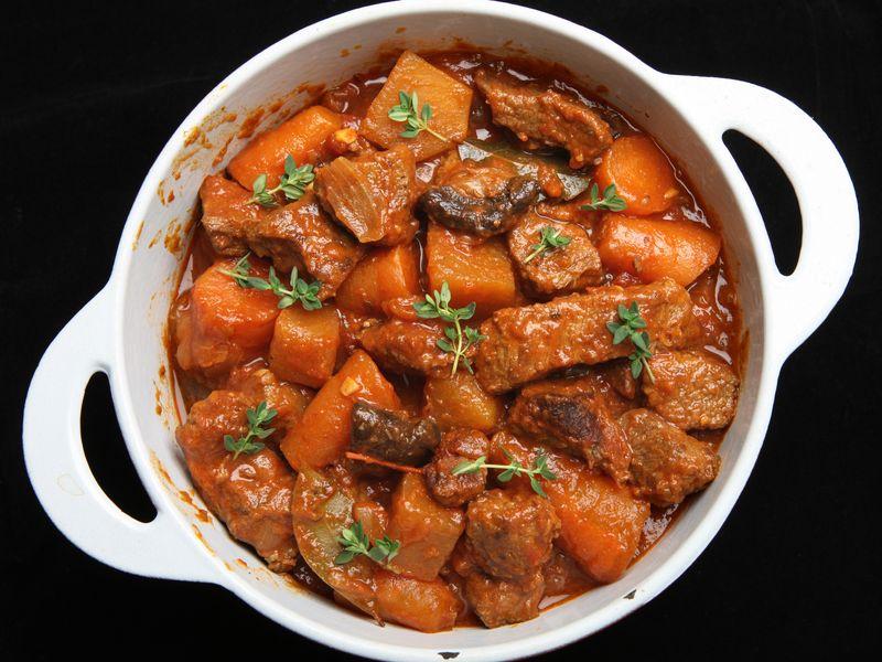 Boeuf carottes à la normande  Recette de Boeuf carottes à