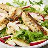 Salade de roquette, champignons et maquereaux