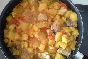 Colombo de thon rouge aux courgettes et à la tomate ...