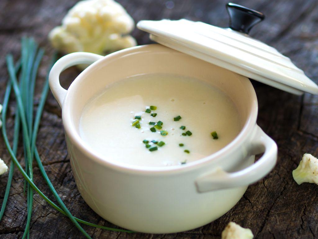 Potage au chou-fleur : Recette de Potage au chou-fleur ...