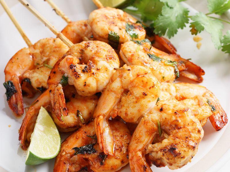 Crevettes Poêlées à La Coriandre Et épices Recette De Crevettes