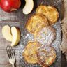 Beignets de pommes au rhum