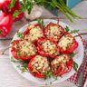 Poivrons farcis thon et parmesan
