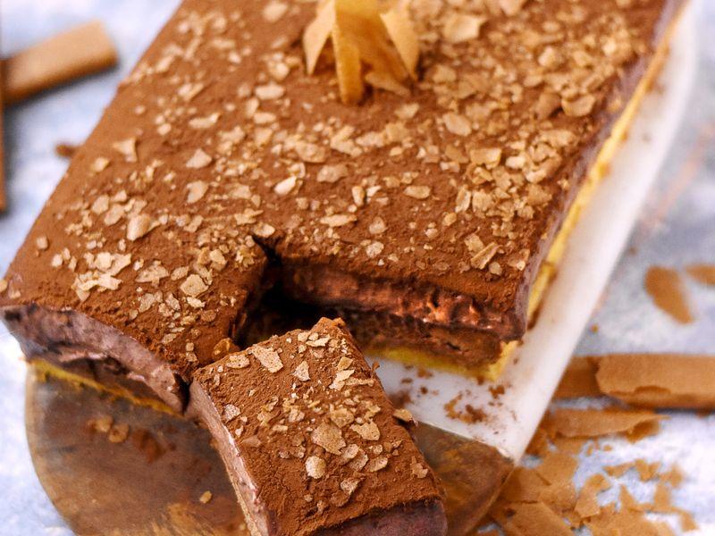 Buche legere chocolat pralinoise