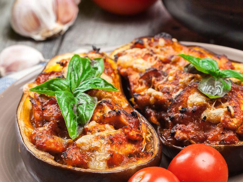 Aubergines farcies (aux légumes ou mixte)  Recette de