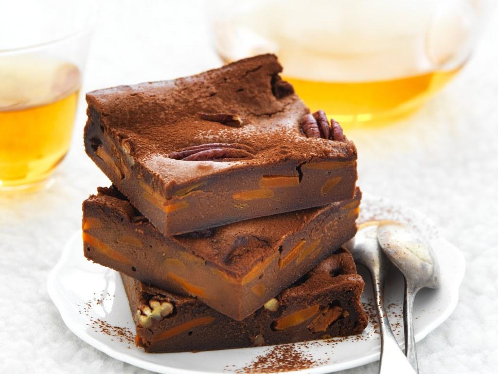 Brownie carotte, chocolat et noix de pécan