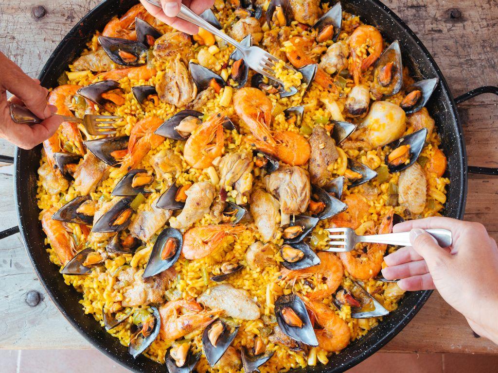 Paëlla fruits de mer, chorizo et poulet de Patou : Recette de ...