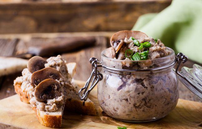 Terrine aux champignons vegan