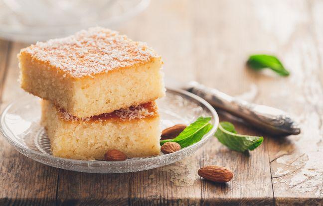 Gâteau de semoule libanais à la rose, au Cookeo