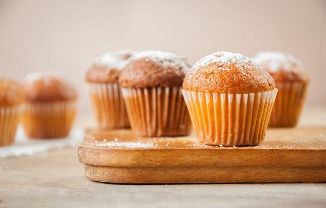 Muffins coeur à la pâte à tartiner au Thermomix