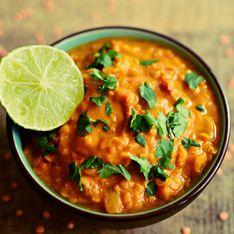 Lentilles Corail au curry au Monsieur Cuisine