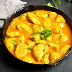 Poulet curry et oignons facile au Companion