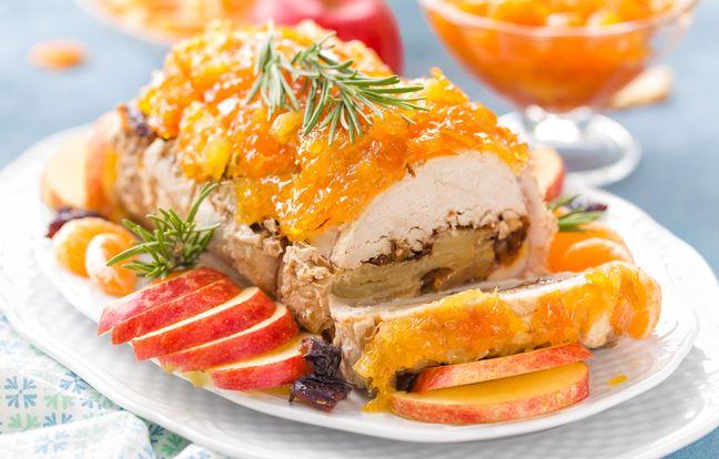 Rôti de veau farci et son nappage confiture d'orange
