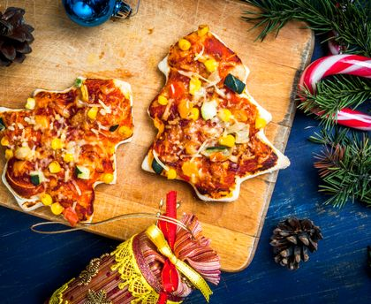 Mini pizza sapin