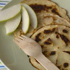 Petites crêpes aux pommes et au lait d'avoine