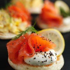 Blinis au saumon fumé et mascarpone