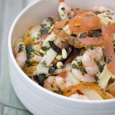 Tagliatelles de saumon et fruits de mer