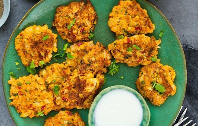 Beignets de légumes à la pâte de curry doux