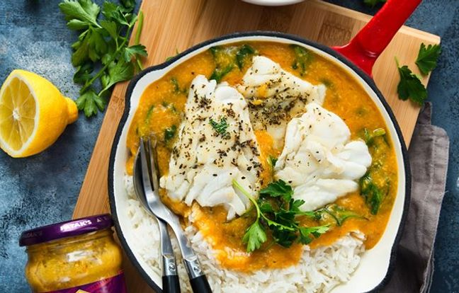 Cabillaud/poisson à la sauce korma