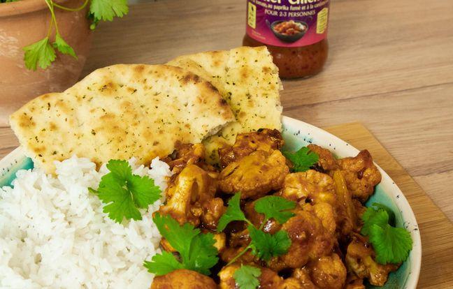 Curry de poulet au chou-fleur et à la sauce butter chicken