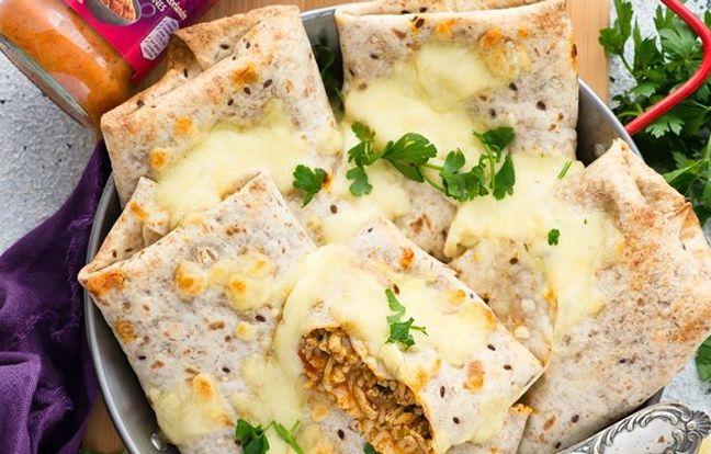 Enchiladas épicés de poulet à l'indienne