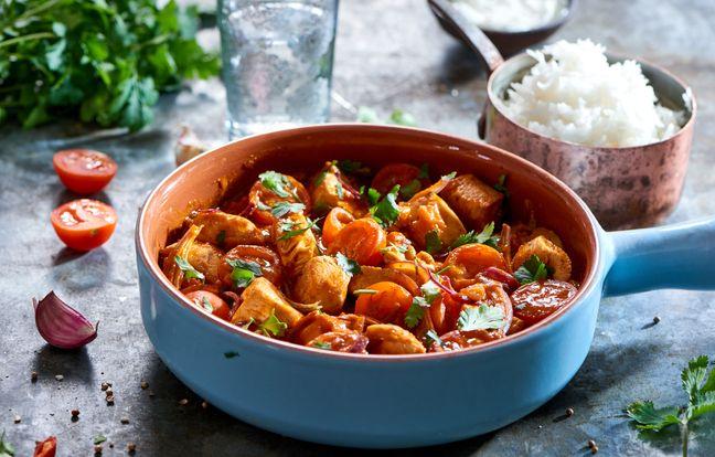 Curry de poulet tikka masala rapide