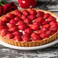 Tarte aux fraises à la crème