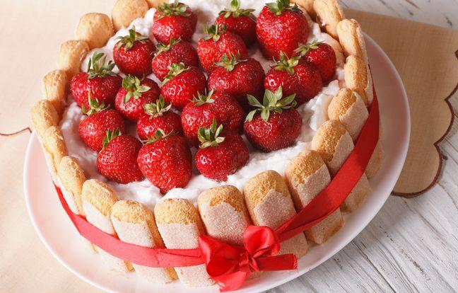 Délicieuse charlotte aux fraises