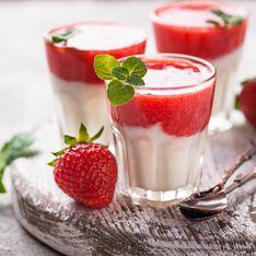 Pana cotta à la fraise
